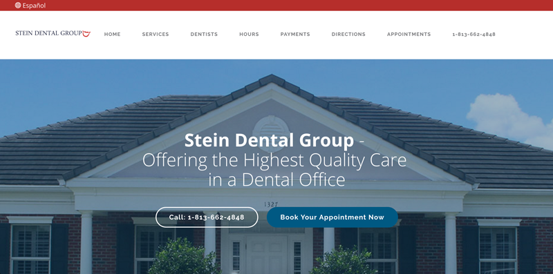 Stein Dental Group's informational website